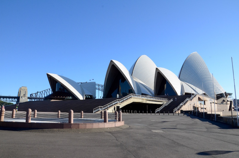 You don't see pictures of the opera house from this angle often – which is probably for the best.