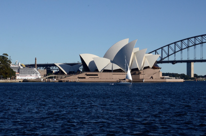 Opera House with sailboat