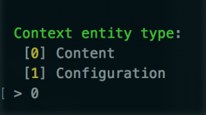 Context Entity Type should be Content