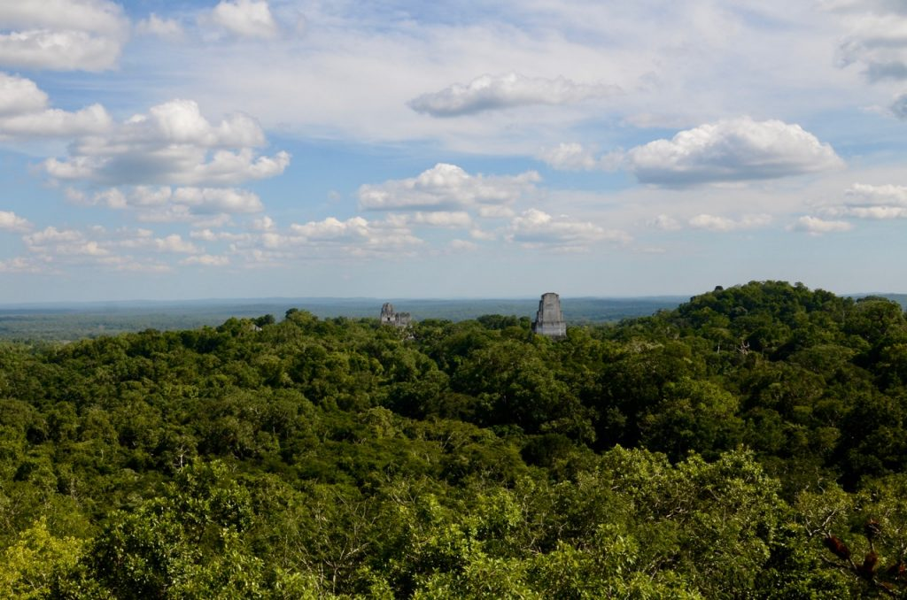 Temples over the jungle used for Star Wars' Yavin base.