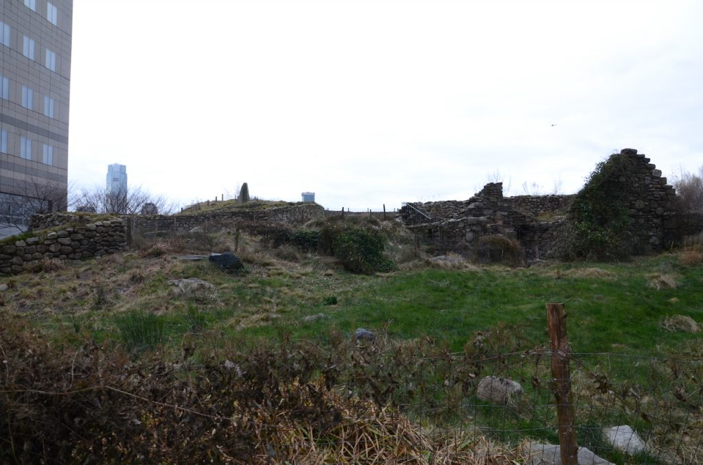 An Irish hillside constructed in the middle of NYC.